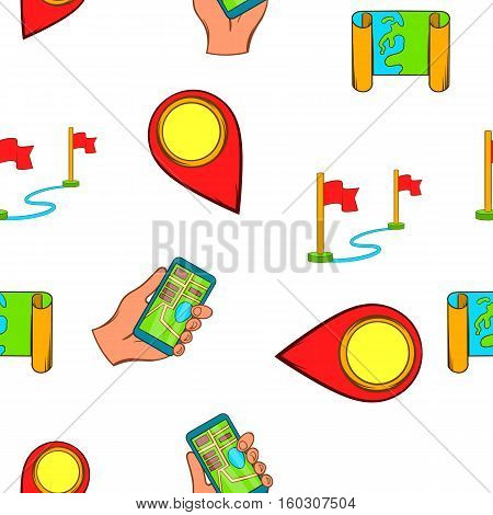 Search way pattern. Cartoon illustration of search way vector pattern for web