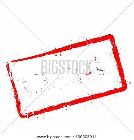 Liberal Red Rubber Stamp Isolated On White Background. Grunge Rectangular Seal With Text, Ink Textur