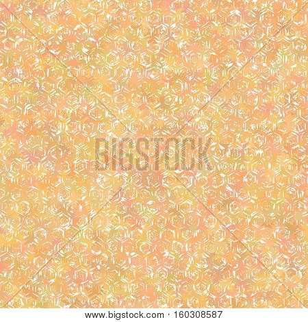 Shabby mottled orange background for design. Vector illustration.
