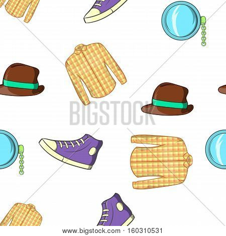 Youth pattern. Cartoon illustration of youth vector pattern for web