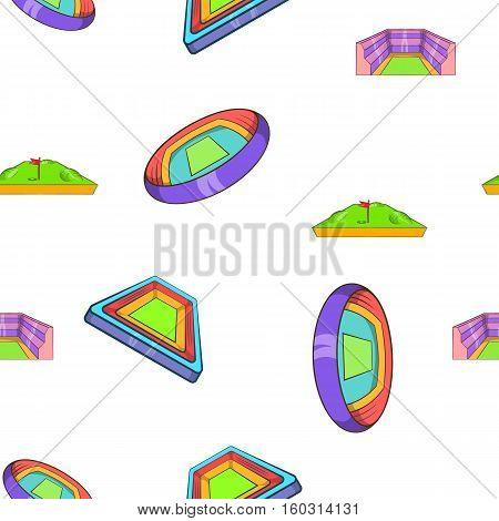 Sport stadium pattern. Cartoon illustration of sport stadium vector pattern for web