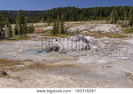 Thermal Formation in the Wilderness of the Shoshone Basin in Yellowstone National Park in Wyoming