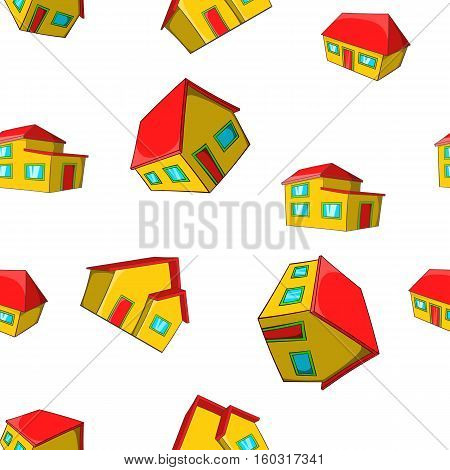 Dwelling pattern. Cartoon illustration of dwelling vector pattern for web