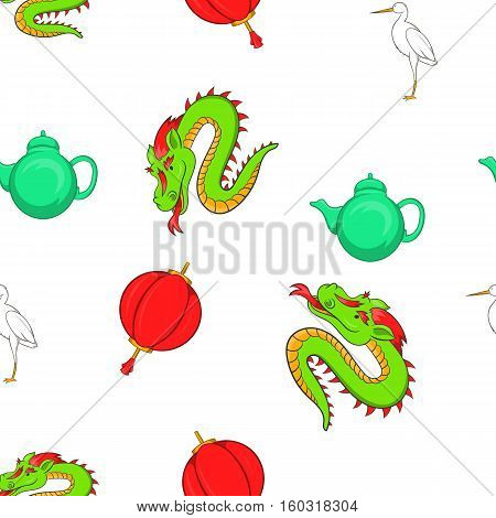 Tourism in China pattern. Cartoon illustration of tourism in China vector pattern for web