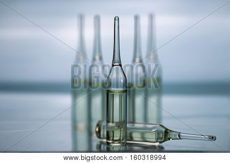 medical equipment tubes and vials for injection and vaccinations