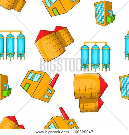 Production pattern. Cartoon illustration of production vector pattern for web