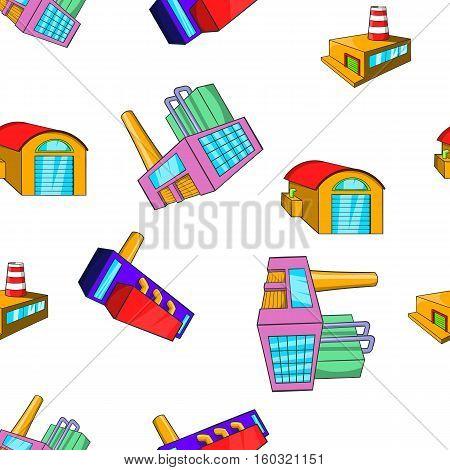 Industrial complex pattern. Cartoon illustration of industrial complex vector pattern for web
