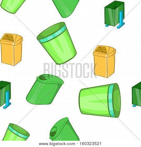 Garbage storage pattern. Cartoon illustration of garbage storage vector pattern for web