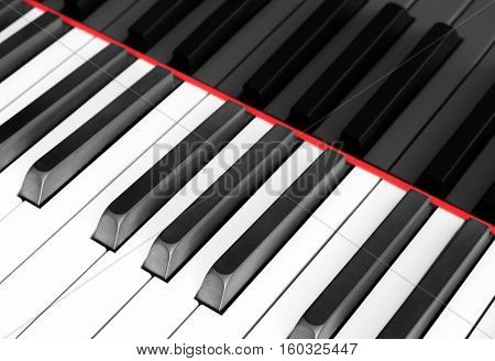 Piano Keyboard Macro , Piano Keyboard Closeup
