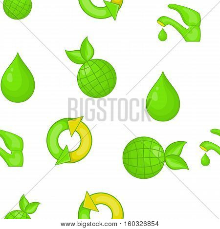 Environment pattern. Cartoon illustration of environment vector pattern for web