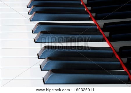 classic piano keyboard - piano keys closeup