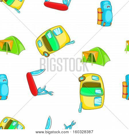 Encampment pattern. Cartoon illustration of encampment vector pattern for web