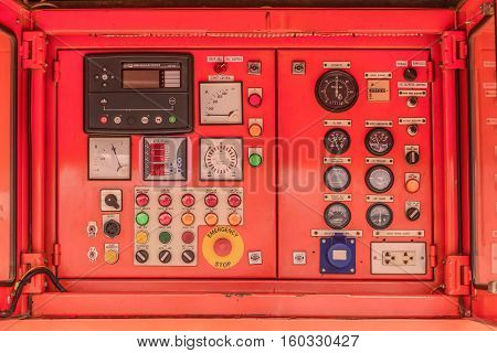 Electricity Control Panel Of Fuel Power Generator