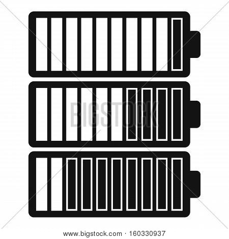 Battery indicators icon. Simple illustration of battery indicators vector icon for web design