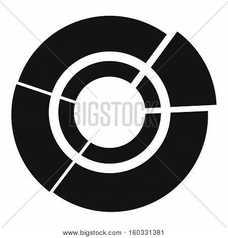 Pie chart for infographic icon. Simple illustration of pie chart vector icon for web design