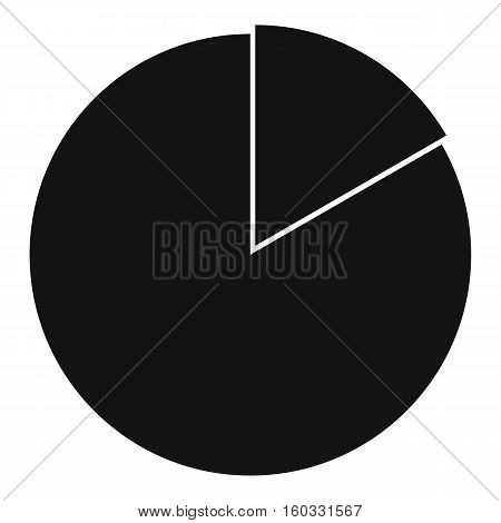 Business pie chart icon. Simple illustration of business pie chart vector icon for web design