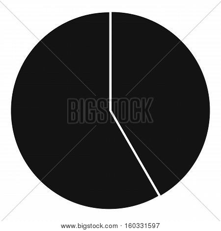 Abstract pie chart for business icon. Simple illustration of pie chart for business vector icon for web design