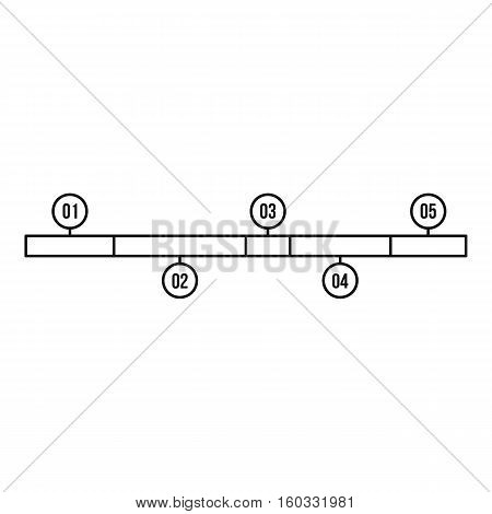 Timeline infographic icon. Outline illustration of timeline infographic vector icon for web design