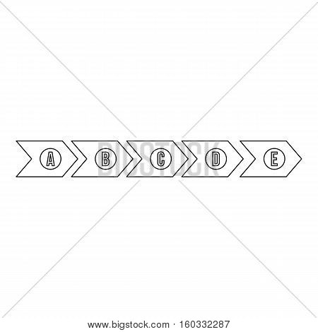 Step by step infographic icon. Outline illustration of step by step infographic vector icon for web design