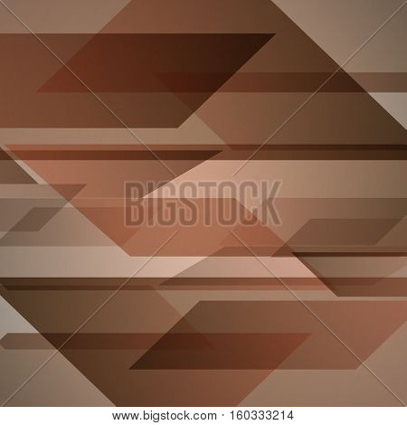 Abstract brown background with geometric shapes overlapping, stock vector