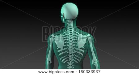 Sport Injury and Sports Recovery Research and Development 3d Illustration Render