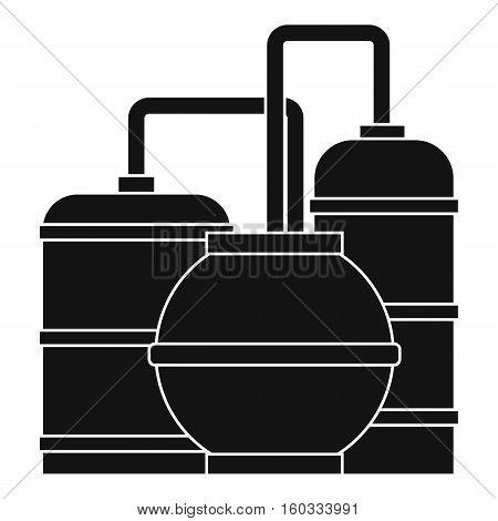 Gas storage tanks icon. Simple illustration of gas storage tanks vector icon for web