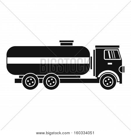 Fuel tanker truck icon. Simple illustration of tanker truck vector icon for web