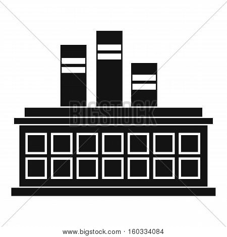 Oil refinery plant icon. Simple illustration of oil refinery plant vector icon for web