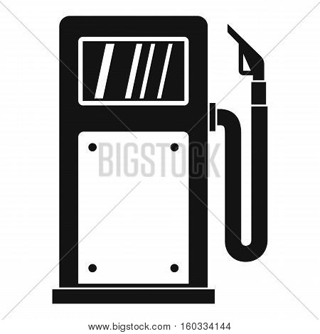 Gasoline pump icon. Simple illustration of gasoline pump vector icon for web