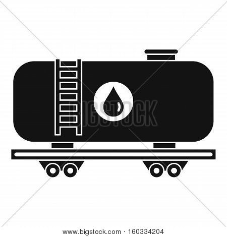 Oil railway tank icon. Simple illustration of oil railway tank vector icon for web