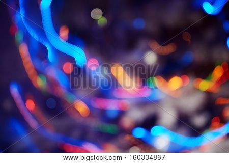 Celebration colorful motion blurred abstract background. Horizontal photo