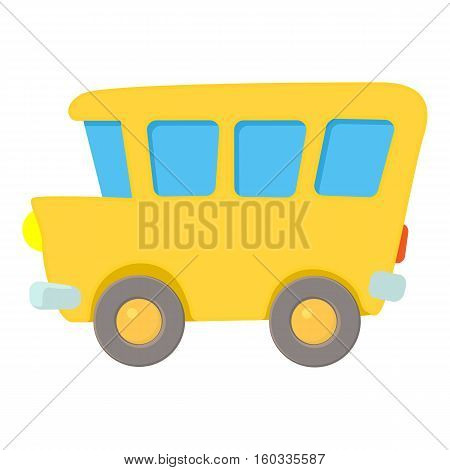 School bus icon. Cartoon illustration of school bus vector icon for web