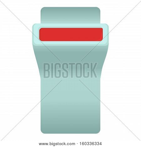 Seat belt button icon. Cartoon illustration of seat belt button vector icon for web