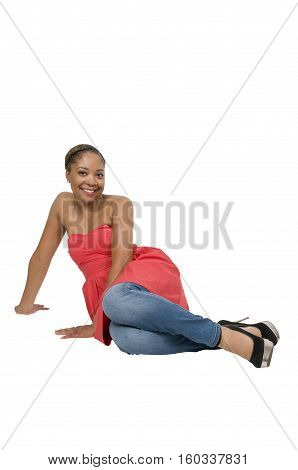 Beautiful young attractive woman modeling a pose