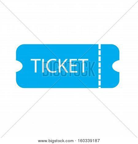 ticket icon on white background. ticket sign.