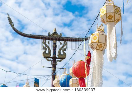 Nan inner city decoration on post, Lanna traditional decoration.