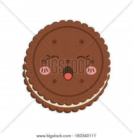 delicious cookie Cartoon icon vector illustration graphic design