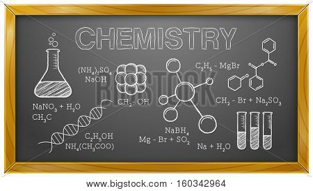 Vector Illustration of Chemistry Elements. Best for Science, Chemistry, Education, Research, Concept.