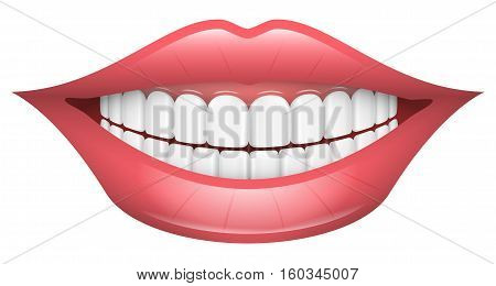Vector Illustration of Smile. Best for Emotions & Feelings, Dentistry, Abstract concept.