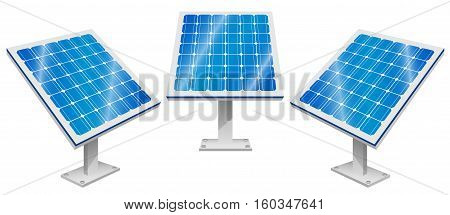 Vector Illustration of Solar Panels. Best for Alternative Energy, Technology, Conservation, Recycling, Green Energy concept.