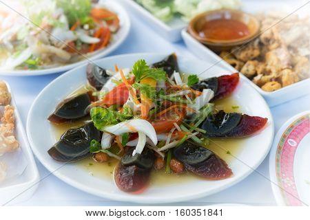 Yum Kai Yeaw Ma Or Preserved Egg Salad Food Thai Style