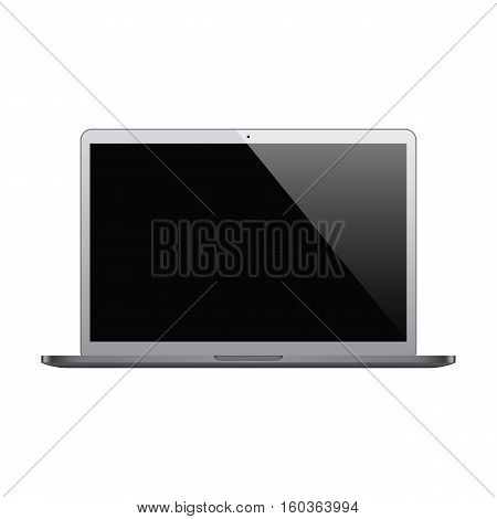 laptop grey color with blank screen isolated on white background. stock vector illustration eps10