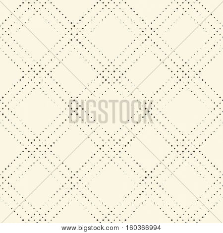 Seamless Diagonal Stripe Pattern. Vector Black and White Geometric Background. Dots Futuristic Ornament. Abstract Minimalistic Design