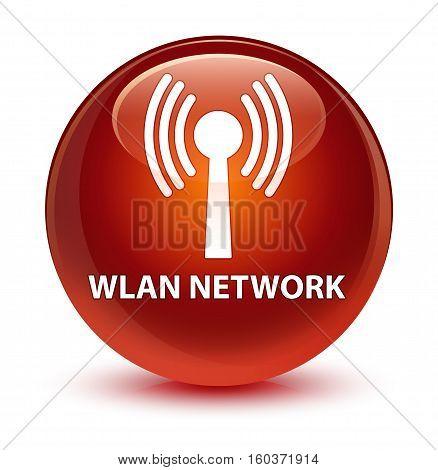 Wlan Network Glassy Brown Round Button