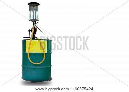 Oil pump tube Pump tube on white background.