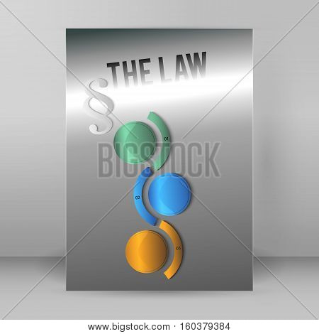 Modern design style infographic for Legal and law firm. Vector illustration eps 10. Can be used for business presentation or brochure template the justice office notary company business card lawyer