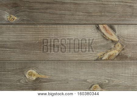 Old vintage wooden surface grunge background with several nodes