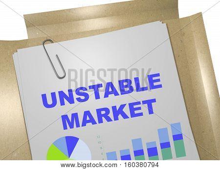 Unstable Market - Business Concept