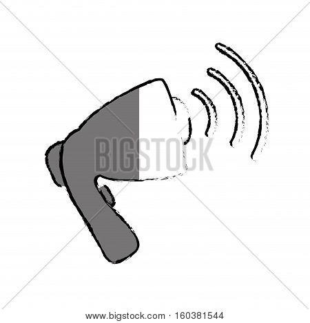 advertising bullhorn loudspeaker icon vector illustration graphic design