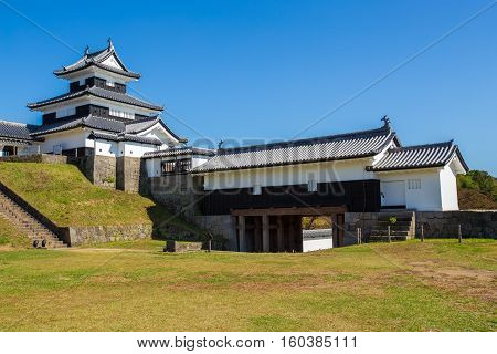 Komine Castle at Fukushima City in Japan